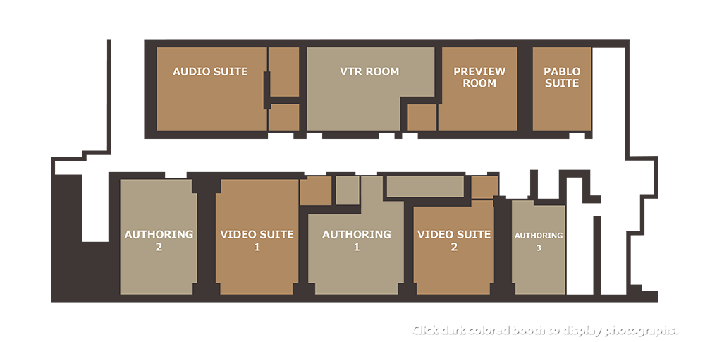 Authoring studios floor plan